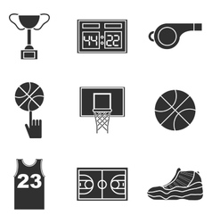 Basketball icon set vector image
