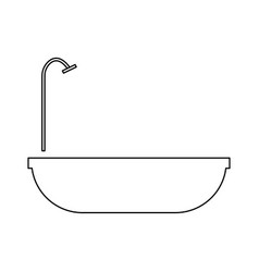 Bath the black color icon vector