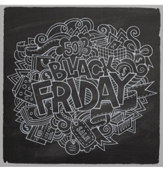 Black Friday sale hand lettering and doodles vector image