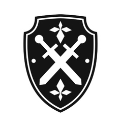 Black shield simple icon vector image