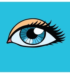 Blue female eyes girl or woman vector image