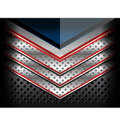 blue red metallic background vector image