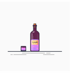 Bottle of potion vector