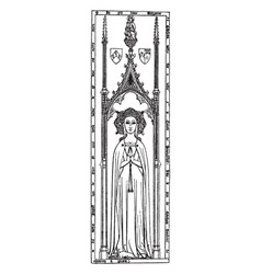 Brass monument is a margaret lady cobham statue vector