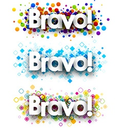 Bravo colour banners vector