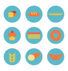 Bread icons vector image