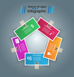 Business infographics origami style vector