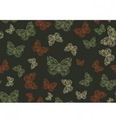 butterflies background vector image vector image