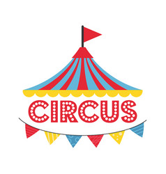 carnival circus banner carnival vector image
