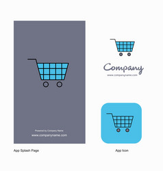 cart company logo app icon and splash page design vector image