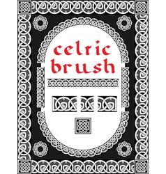Celtic brush for frame vector