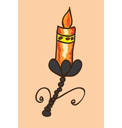 Colorful candle vector image