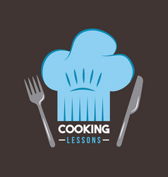 Cooking lessons flat vector