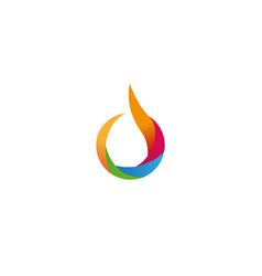 creative colorful drop logo design symbol vector image