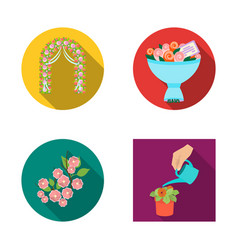 Design of spring and wreath symbol set of vector