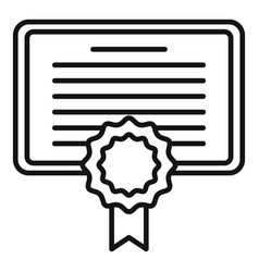 Diploma personal traits icon outline style vector