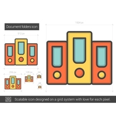 Document folders line icon vector
