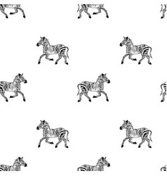 drawing african wildlife seamless pattern vector image