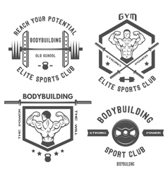 Emblem bodybuilding vector image
