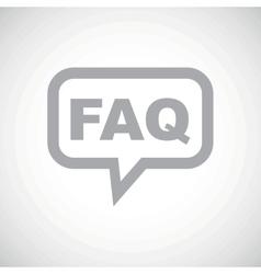 FAQ grey message icon vector