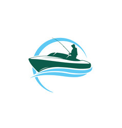 fishing-logo vector image