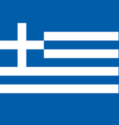 flag greece the color and size original vector image