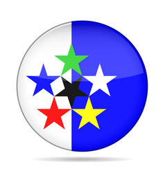 Flags of the world shiny round button vector