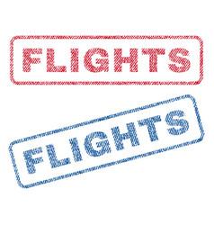 Flights textile stamps vector
