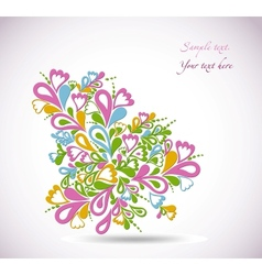 Floral colorful design vector image