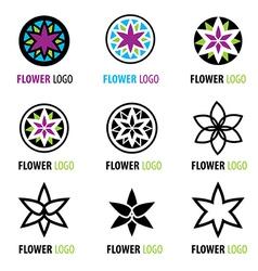 Flower logo 001 vector image