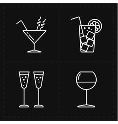 four modern flat bar icons vector image