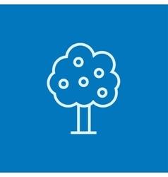 Fruit tree line icon vector image