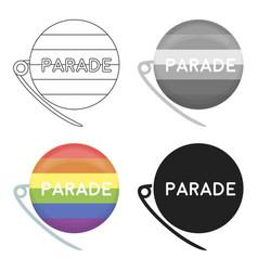 Gay parade icon cartoon single gay icon from the vector