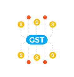 Gst goods and service tax taxation concept vector