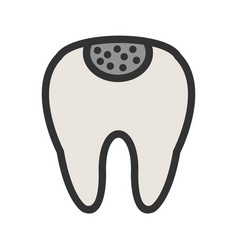 Holed tooth vector