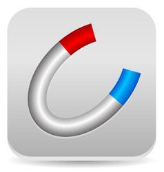 Horseshoe magnet icon vector