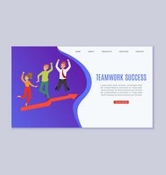 inscription teamwork success web banner concept vector image
