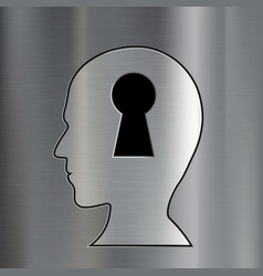 Keyhole in the human head vector