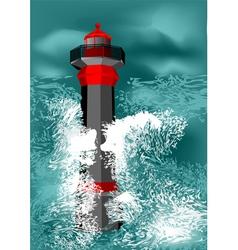 Lighthouse storm vector