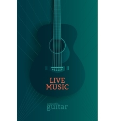 Live music poster vector image
