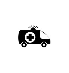 medical car ambulance icon vector image