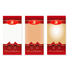 merry christmas three holiday background with a vector image