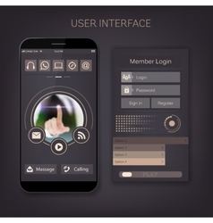 Mobile user ui kit form interface For web vector