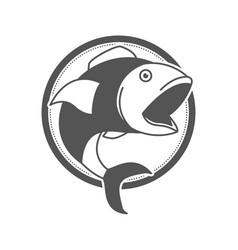 Monochrome silhouette of circular shape emblem vector