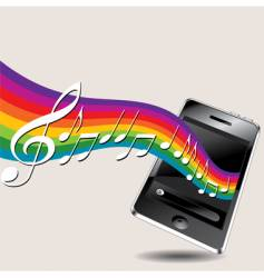 Music phone vector