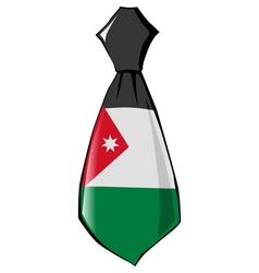 necktie in national colours of Jordan vector image