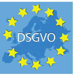 New dsgvo in europa data protection regulation vector
