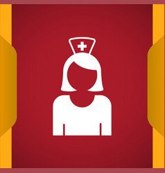 Nurse icon for web and mobile vector