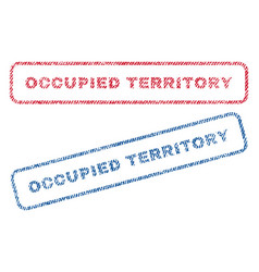 Occupied territory textile stamps vector