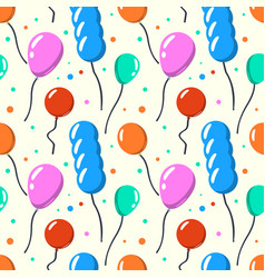 party baloon seamless pattern cartoon balloons vector image